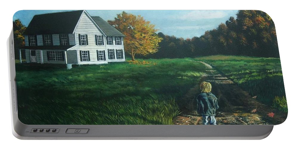 Pennsylvania Portable Battery Charger featuring the painting September Breeze Number 4 by Christopher Shellhammer