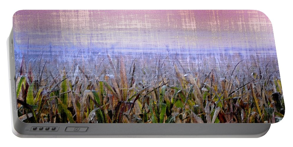 September Portable Battery Charger featuring the photograph September Cornfield by Bill Cannon