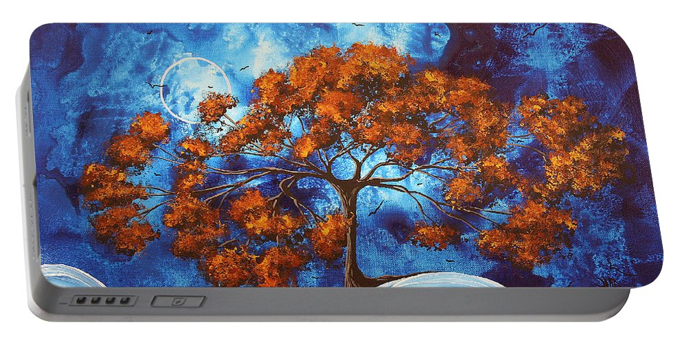 Abstract Portable Battery Charger featuring the painting Serendipitous Original Madart Painting by Megan Duncanson