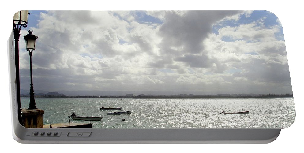 Seaside Portable Battery Charger featuring the photograph Serene by Deborah Crew-Johnson