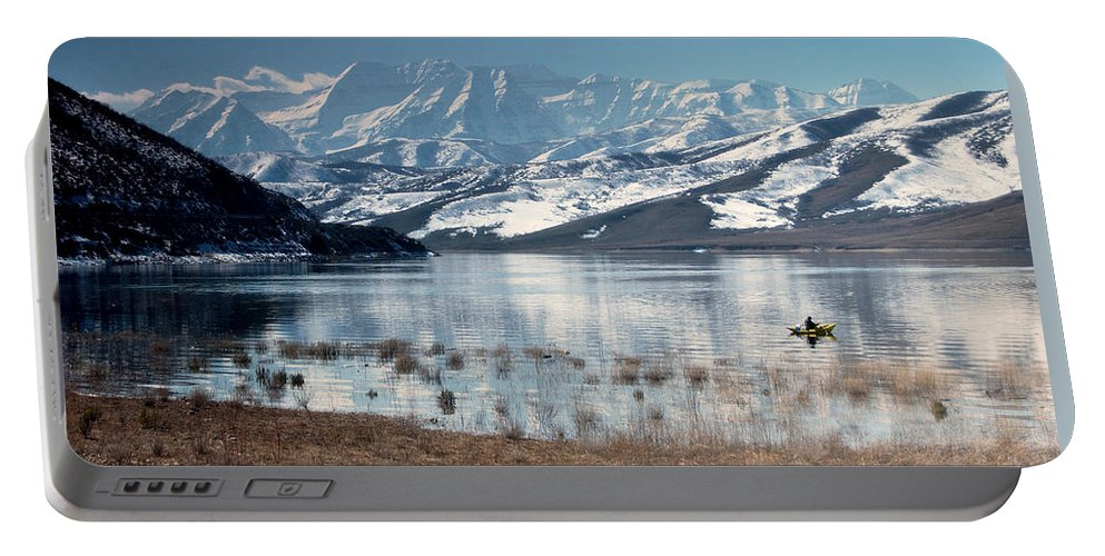 Landscape Portable Battery Charger featuring the photograph Serene Paddling by Scott Sawyer