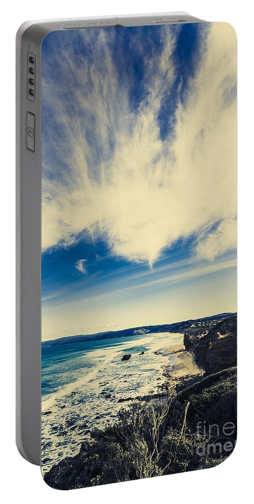 Victoria Portable Battery Charger featuring the photograph Serene Victoria Coastline by Jorgo Photography - Wall Art Gallery