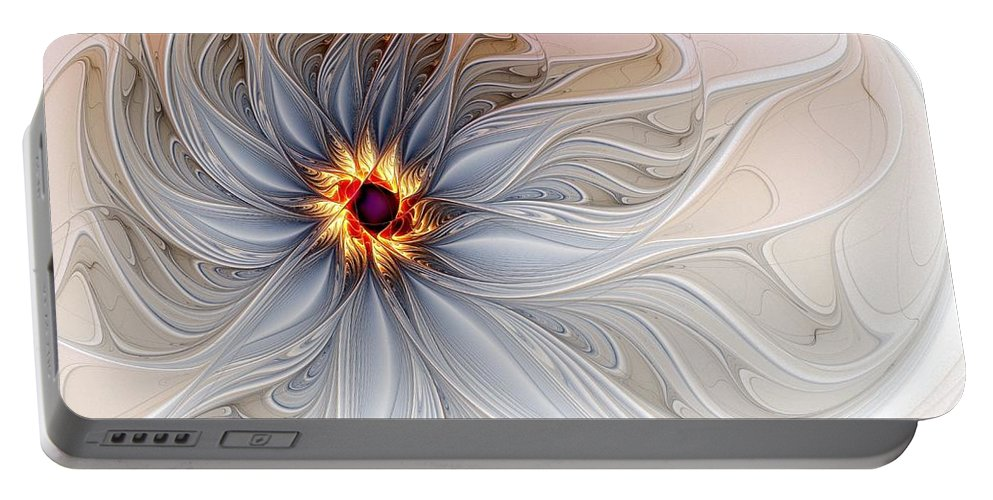 Digital Art Portable Battery Charger featuring the digital art Serenely Blue by Amanda Moore