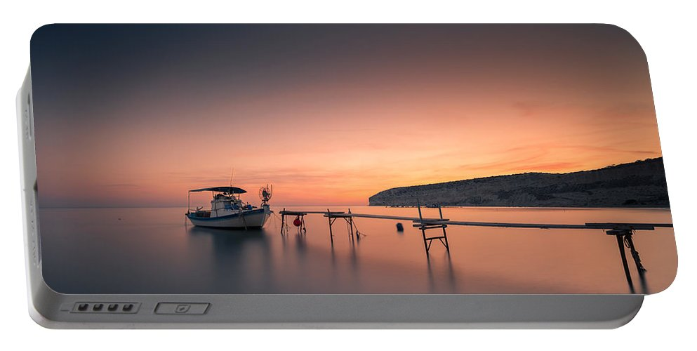 Seascape Portable Battery Charger featuring the photograph Serenity by Charalambos Charalambous
