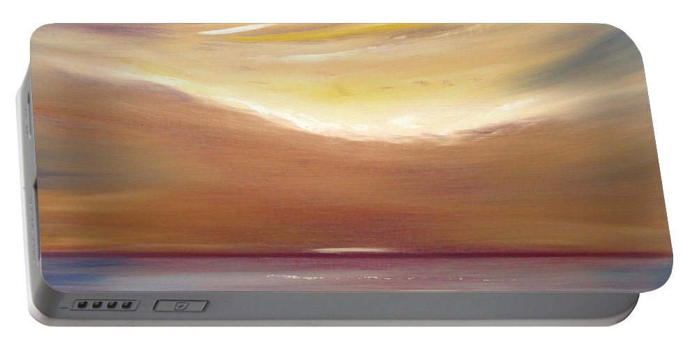 Art Portable Battery Charger featuring the painting Serenity by Gina De Gorna