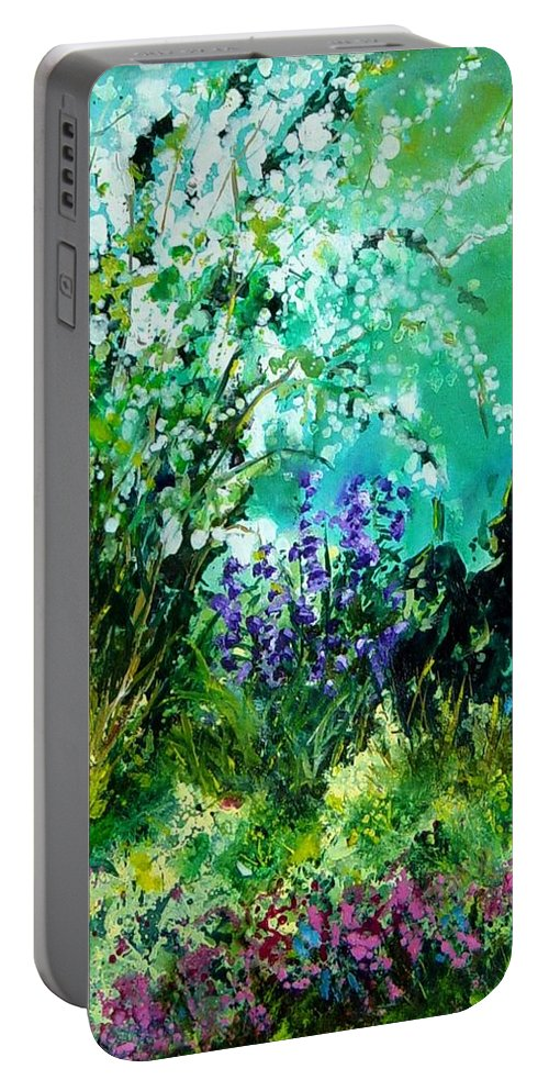 Tree Portable Battery Charger featuring the painting Seringa by Pol Ledent