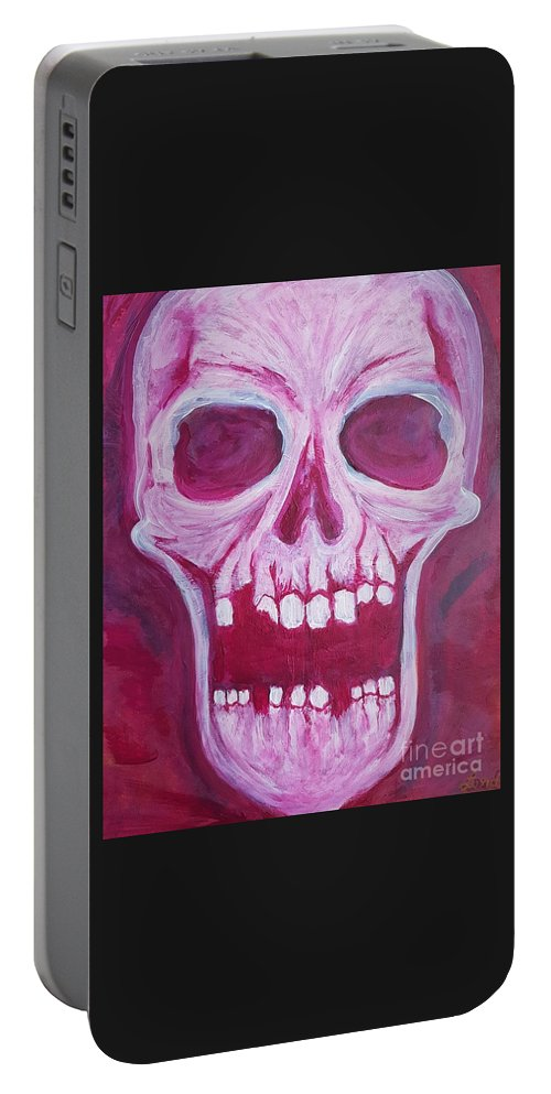 Expressionist Portable Battery Charger featuring the painting Serious.. by Luke Lord