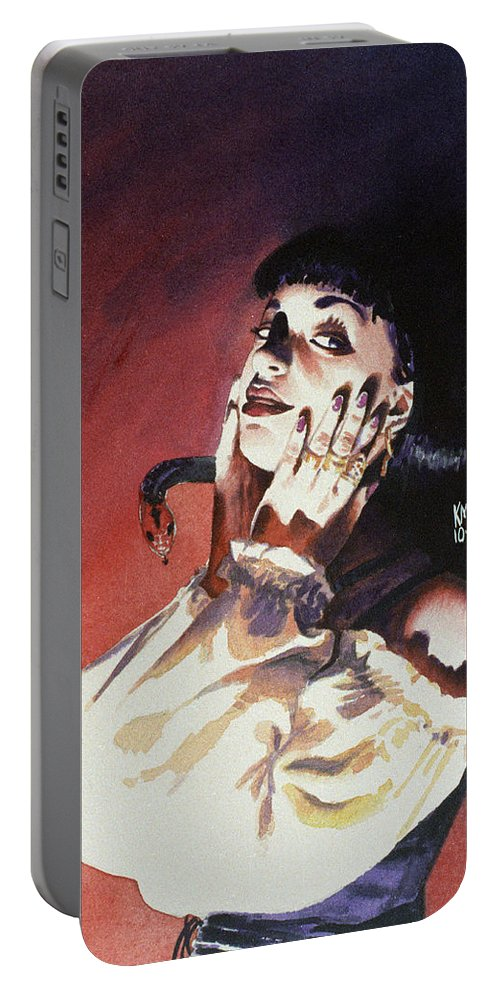 Women Portable Battery Charger featuring the painting Set by Ken Meyer jr