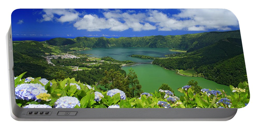 Sete Cidades Portable Battery Charger featuring the photograph Sete Cidades Crater by Gaspar Avila