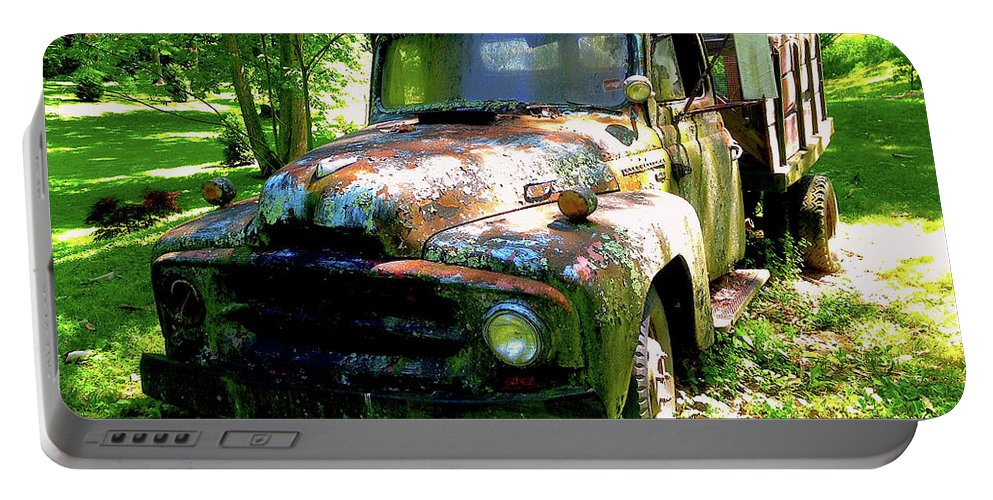 Transportation Portable Battery Charger featuring the photograph Settled Beauty by Jim Browder