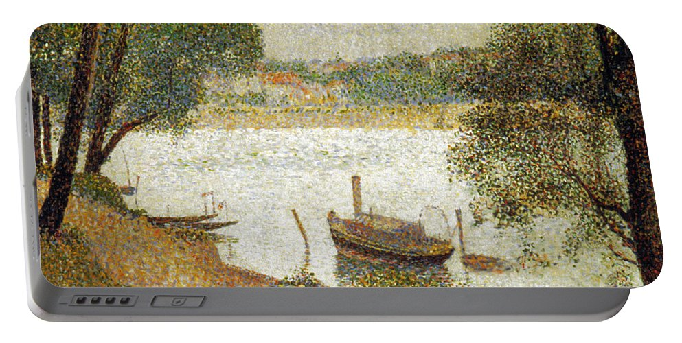 19th Century Portable Battery Charger featuring the photograph Seurat: Gray Weather by Granger