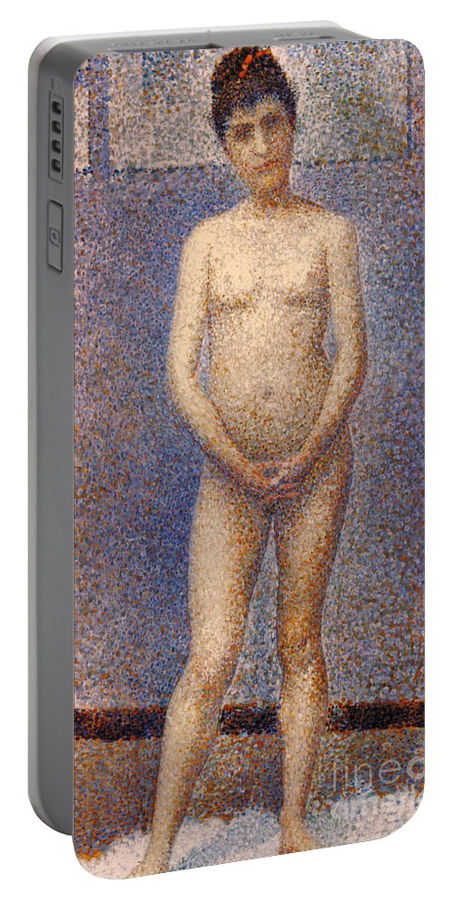 1887 Portable Battery Charger featuring the photograph Seurat: Model, C1887 by Granger