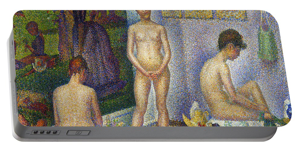 1866 Portable Battery Charger featuring the photograph Seurat: Models, C1866 by Granger
