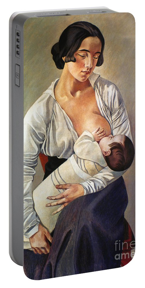 1916 Portable Battery Charger featuring the photograph Severini: Maternity, 1916 by Granger