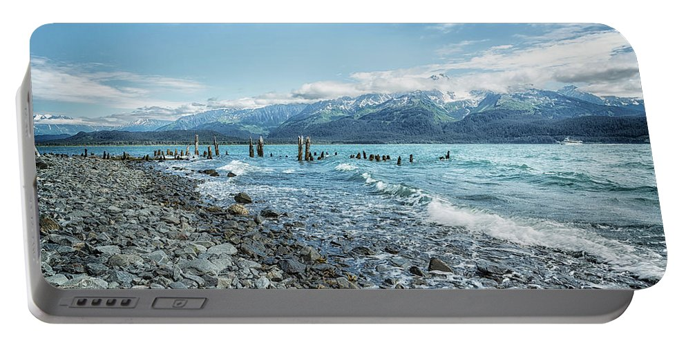 Seaward Seashore Portable Battery Charger featuring the photograph Seward Seashore by Belinda Greb