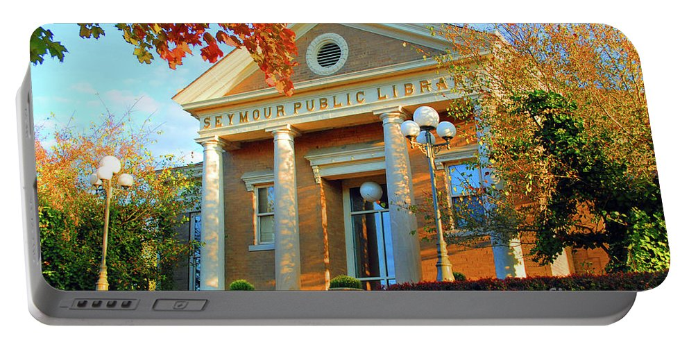 Seymour Portable Battery Charger featuring the photograph Seymour Public Library by Jost Houk