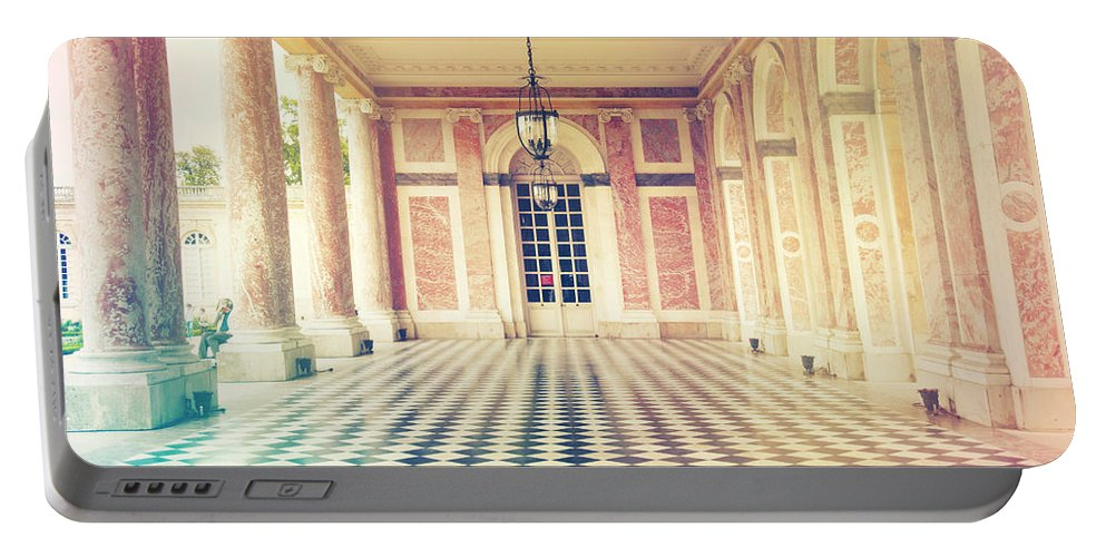 Angle Portable Battery Charger featuring the photograph Shabby Chic Versailles Columns Of Grand Trianon by Sandra Rugina