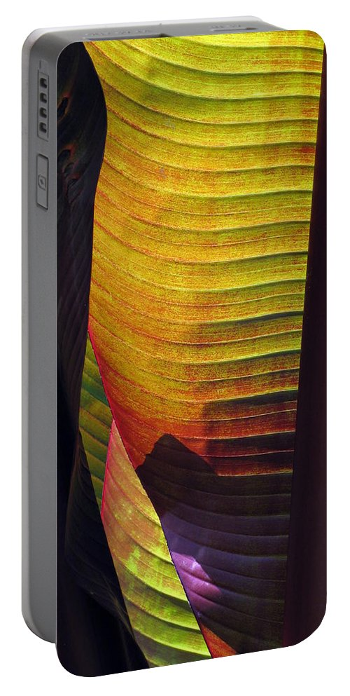 Leaf Portable Battery Charger featuring the photograph Shade by Deborah Crew-Johnson