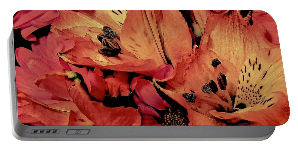 Bouquet Portable Battery Charger featuring the photograph Shades Of Spring by Elizabeth Tillar