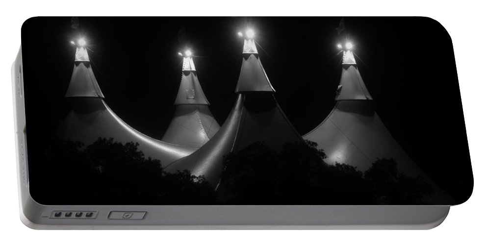 Tent Portable Battery Charger featuring the photograph Shadow And Light by David Lee Thompson