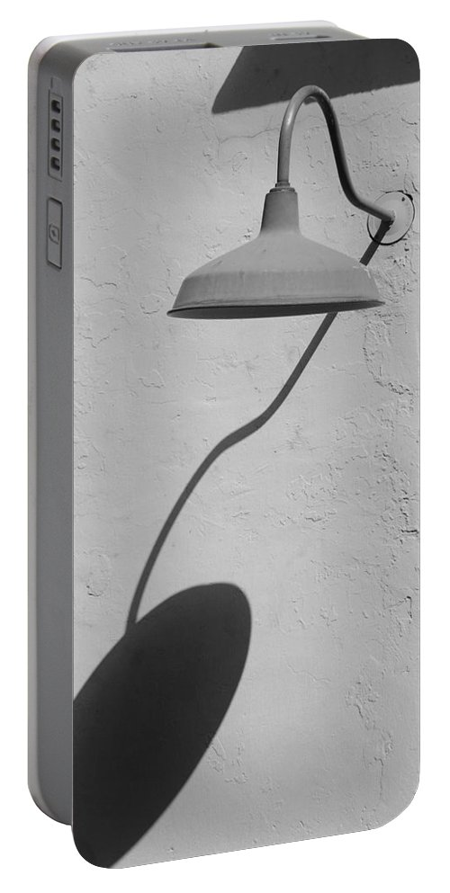 Black And White Portable Battery Charger featuring the photograph Shadow Lamp by Rob Hans