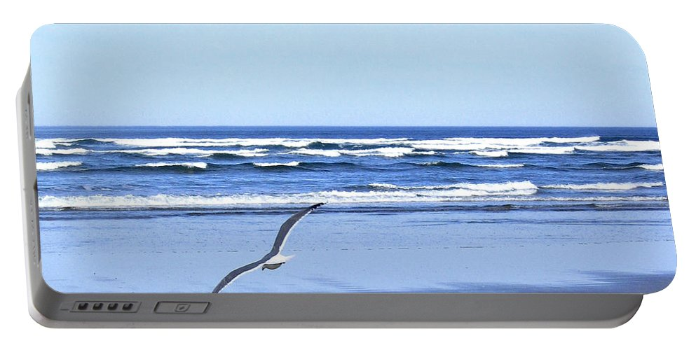 Seagull Portable Battery Charger featuring the photograph Shadow On The Sand by Will Borden