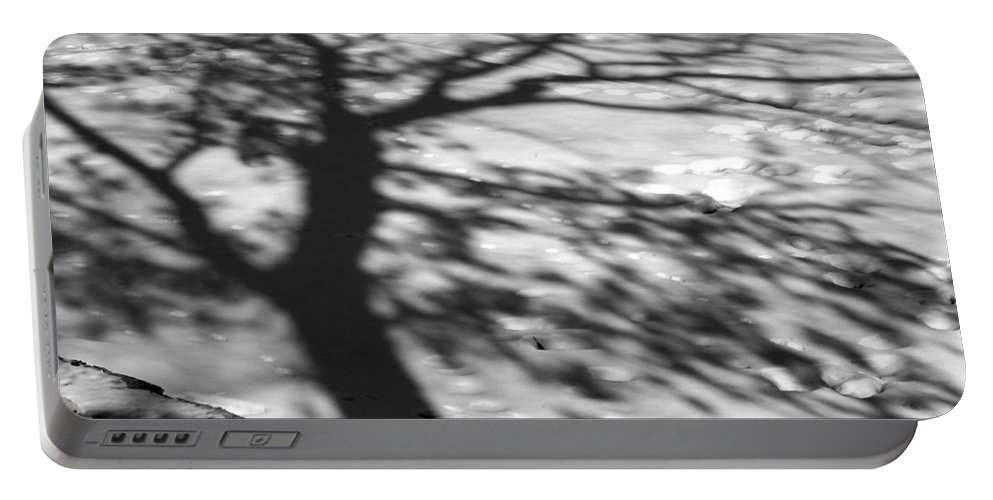 Shadow Portable Battery Charger featuring the photograph Shadow Tree Herrick Lake Naperville Illinois by Michael Bessler