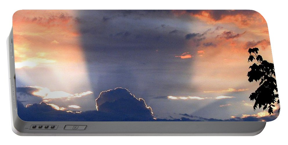 Sunset Portable Battery Charger featuring the photograph Shadows In The Sky by Will Borden