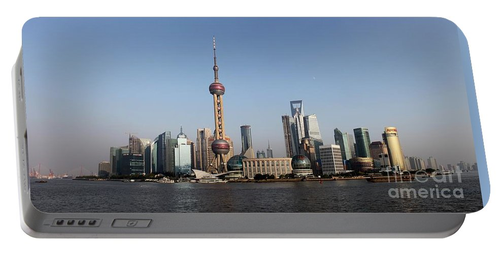 China Portable Battery Charger featuring the photograph Shanghai Skyline by Thomas Marchessault