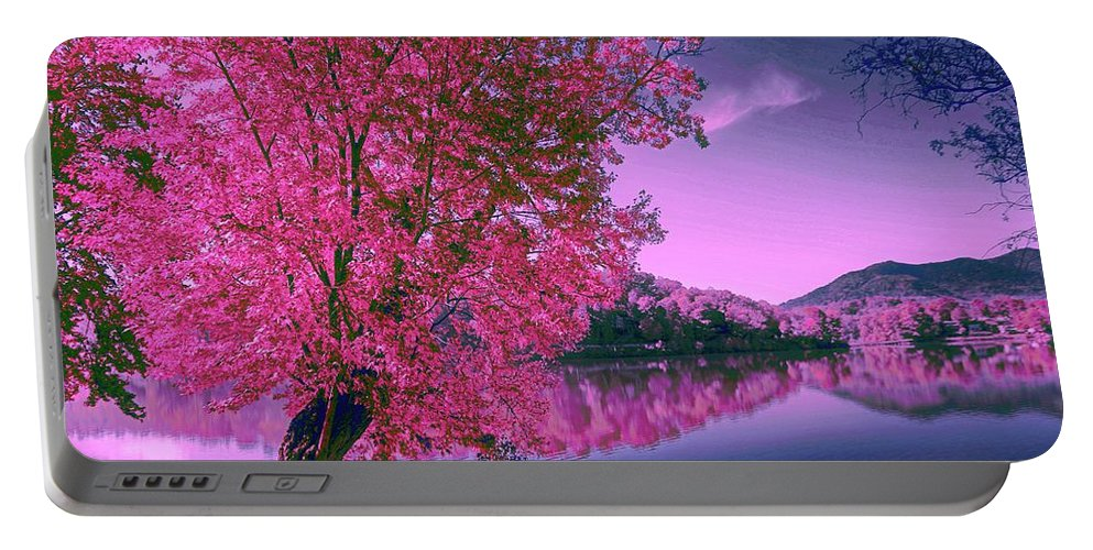 Landscape Portable Battery Charger featuring the photograph Shangrila by Dennis Baswell