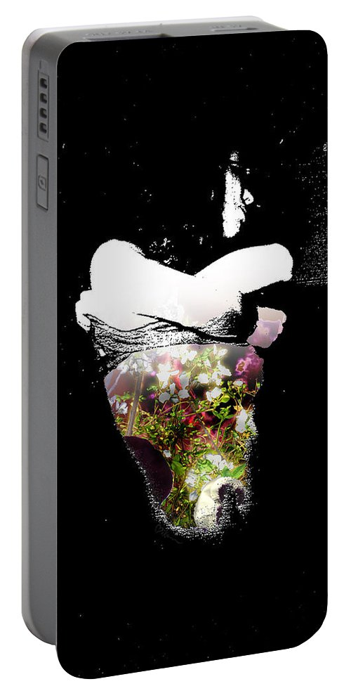 Love Portable Battery Charger featuring the painting Shape Charge For Your Soul by Miko At The Love Art Shop