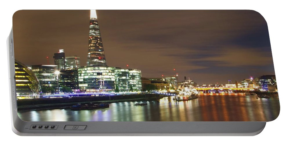 Shard Portable Battery Charger featuring the photograph Shard From Tower Bridge London by Andrew Ford