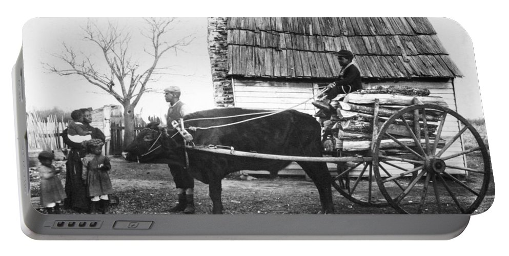 1890 Portable Battery Charger featuring the photograph Sharecroppers, C1890 by Granger