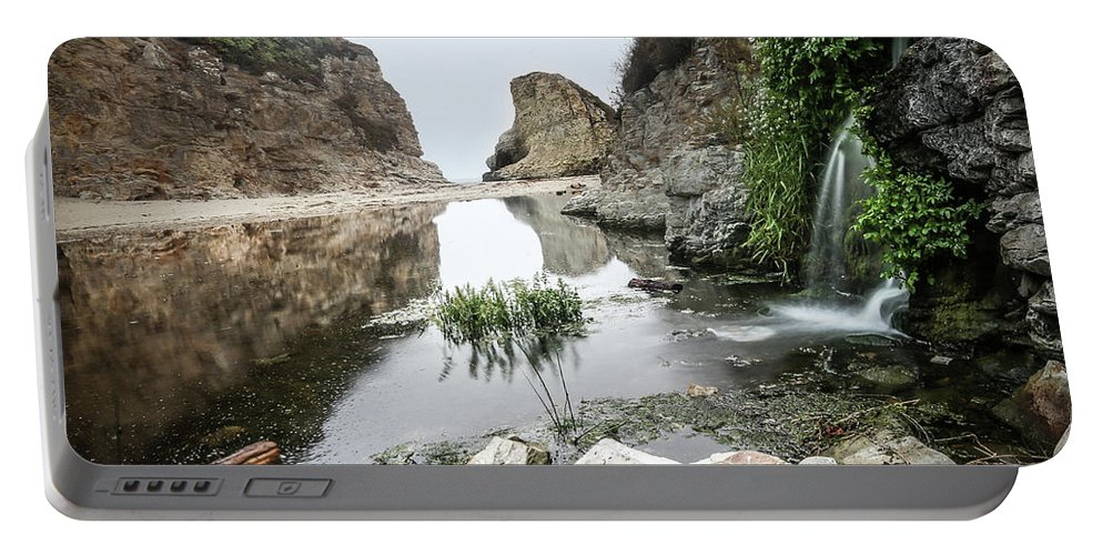 Shark Fin Cove Beach Portable Battery Charger featuring the photograph Shark Fin Cove by Mario Mariscal