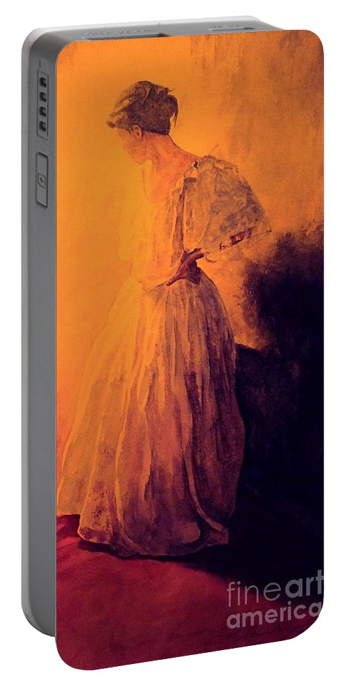 Woman Portable Battery Charger featuring the painting She Danced by William Kelsey