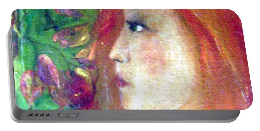 Colour Portable Battery Charger featuring the painting She Was by Wojtek Kowalski