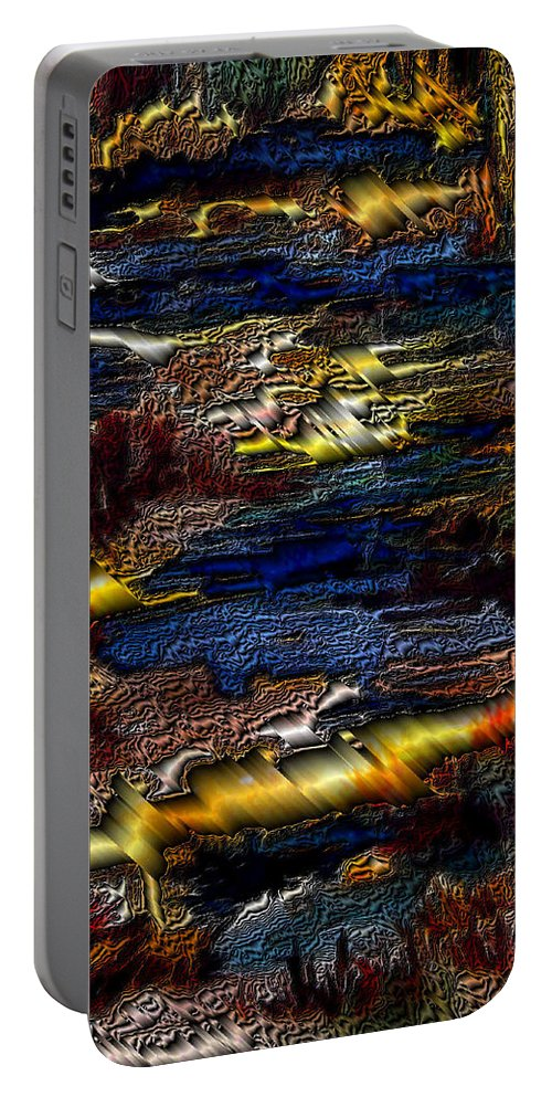 Metal Reflections Portable Battery Charger featuring the photograph Sheet Metal by Joanne Smoley