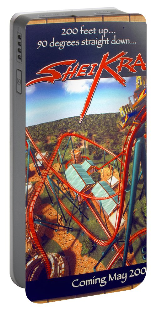 Sheikra Coaster Portable Battery Charger featuring the photograph Sheikra Ride Poster 2 by David Lee Thompson