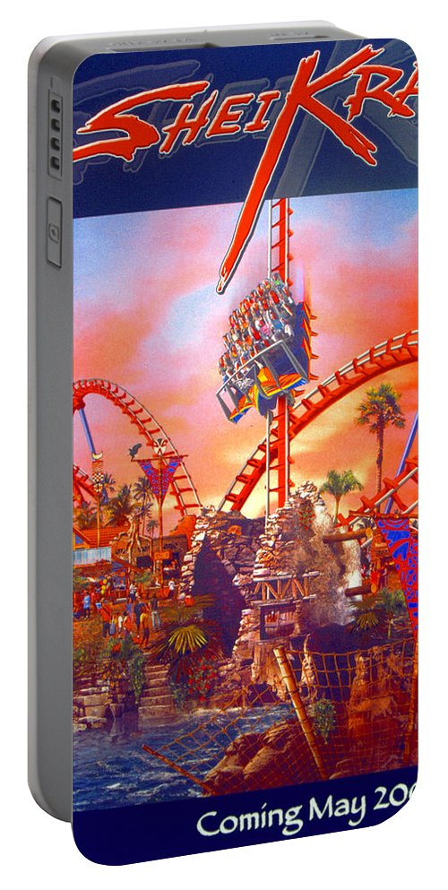 Sheikra Ride Poster Portable Battery Charger featuring the photograph Sheikra Ride Poster 3 by David Lee Thompson