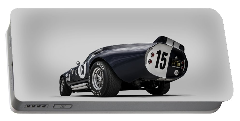 Shelby Portable Battery Charger featuring the digital art Shelby Daytona by Douglas Pittman