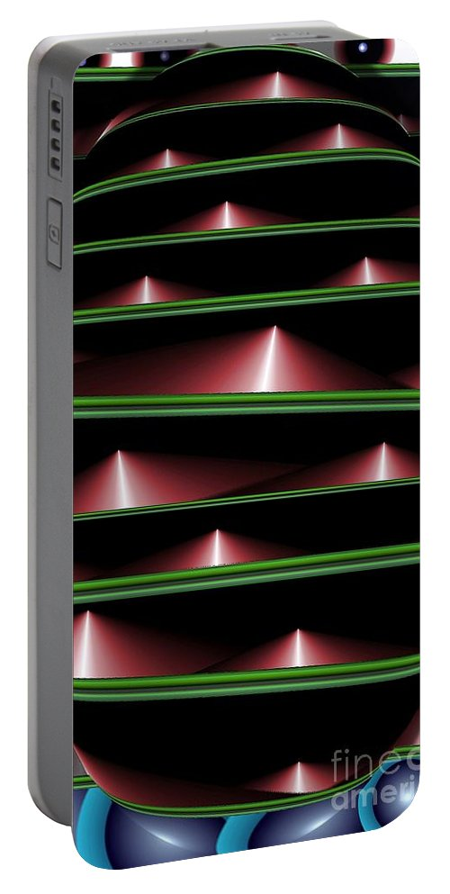 Abstract Portable Battery Charger featuring the digital art Shelved by Ron Bissett