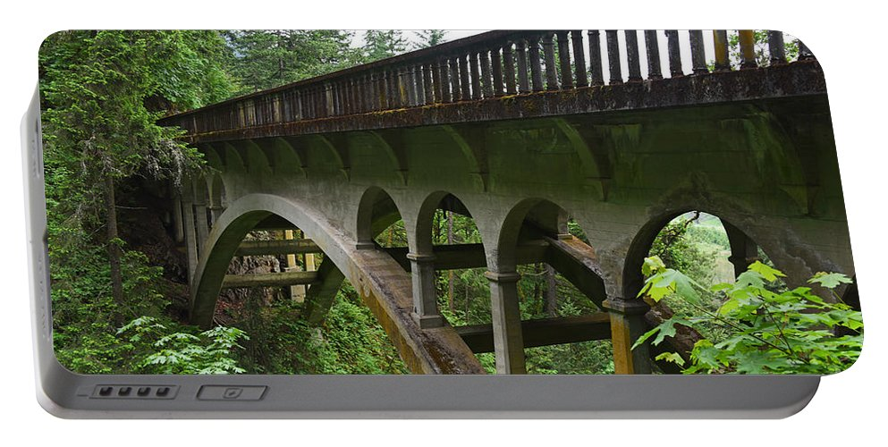 Shepperds Dell Portable Battery Charger featuring the photograph Shepperds Dell Bridge by Ralf Broskvar