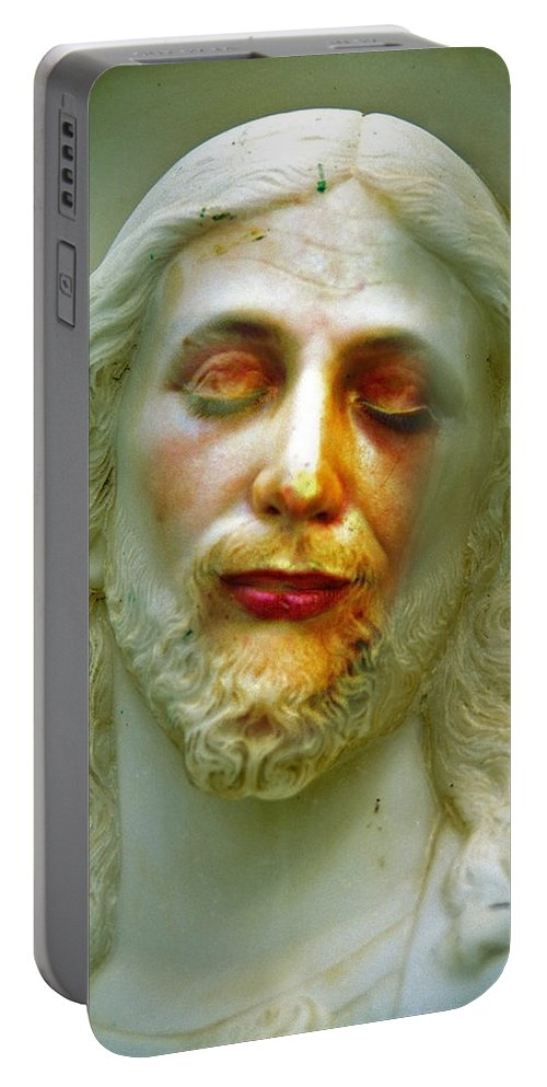 Jesus Portable Battery Charger featuring the photograph Shesus by Skip Hunt