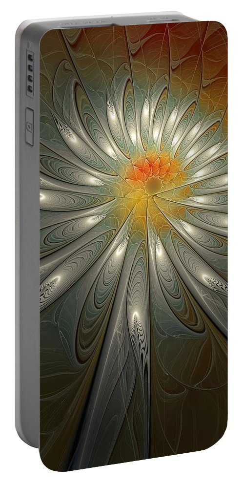 Digital Art Portable Battery Charger featuring the digital art Shimmer by Amanda Moore