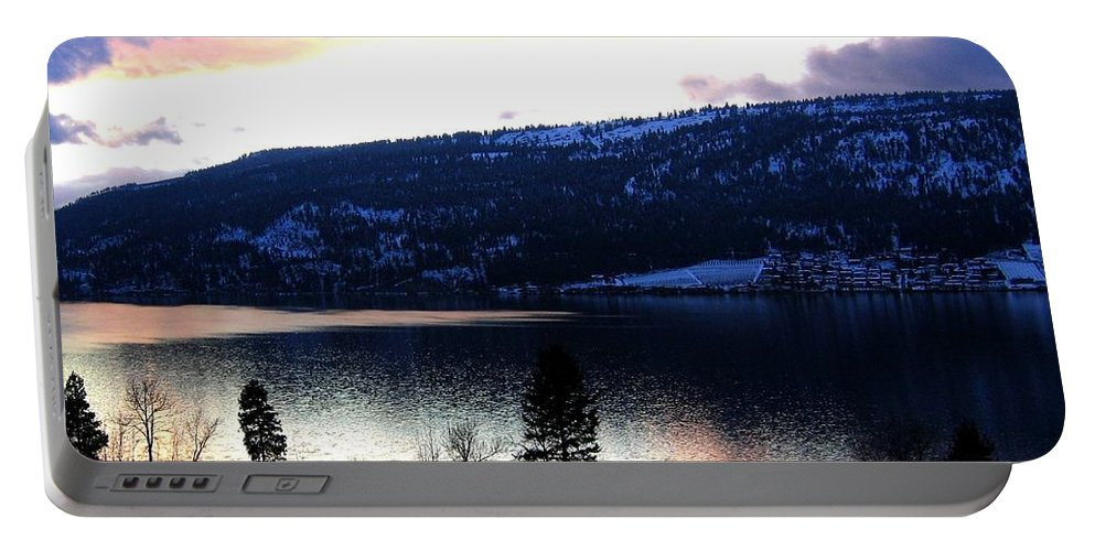 Wood Lake Portable Battery Charger featuring the photograph Shimmering Waters by Will Borden