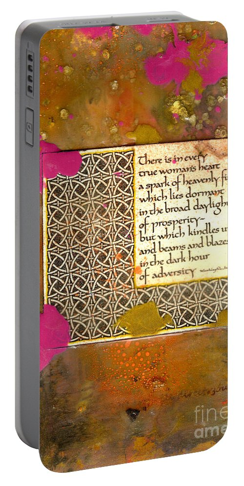 Gretting Cards Portable Battery Charger featuring the mixed media Shine Even In Adversity by Angela L Walker