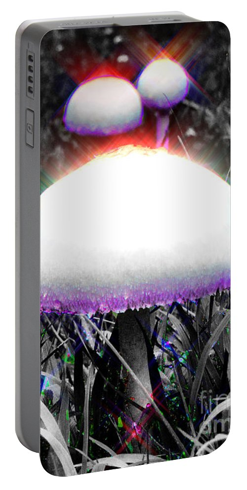 Abstract Portable Battery Charger featuring the photograph Shiny Happy People Trip by September Stone
