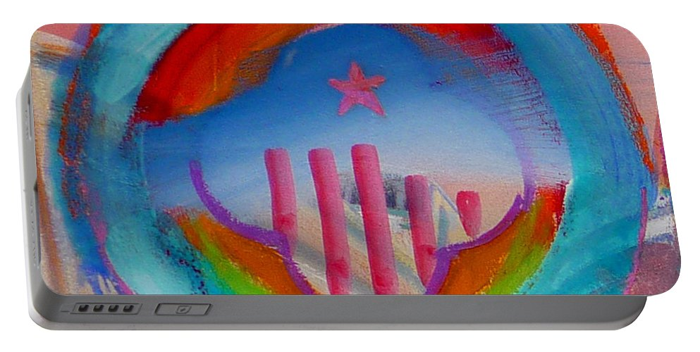 Logo Portable Battery Charger featuring the painting Ship Of State by Charles Stuart