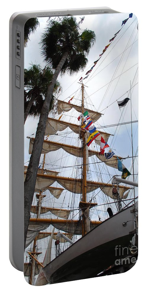 Ship Portable Battery Charger featuring the photograph Ships Palm by Jost Houk