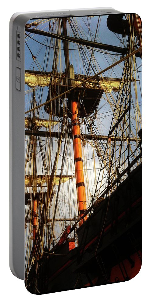 Ship Portable Battery Charger featuring the photograph Ships Rigging by Sakki